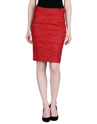 Ajay Knee Length Skirts Red