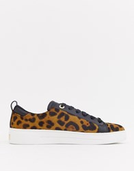 3d2ba9ab2 Ted Baker Leopard Pony Trainers Multi