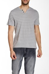 Kenneth Cole Striped Henley Tee Multi