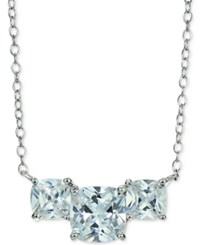 Giani Bernini Cubic Zirconia Three Stone Pendant Necklace In Sterling Silver Only At Macy's