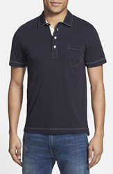 Men's Billy Reid 'Pensacola' Trim Fit Polo Navy