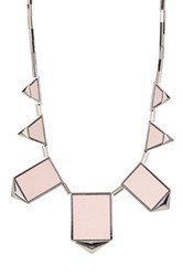 House Of Harlow Classic Station Pyramid Necklace Pink