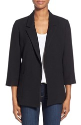 Women's Gibson Three Quarter Sleeve Blazer Black