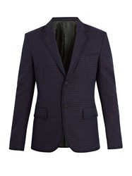 Gucci Cambridge Cotton And Wool Blend Jacket Navy