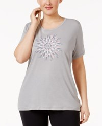 Columbia Plus Size Daisy Day Graphic T Shirt Grey Heather