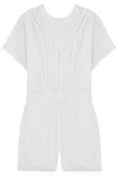 Paul And Joe Embroidered Jumpsuit White