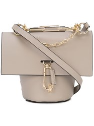Zac Posen Belay Chain Crossbody Bag Grey