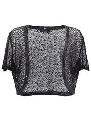 Ariella Vera Sequin And Beaded Bolero Black