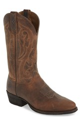 Ariat Circuit Tall Cowboy Boot Warm Stone Leather