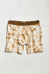 Urban Outfitters Sand Camo Boxer Brief Tan