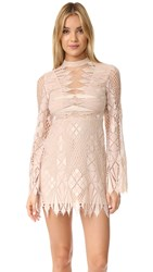 Free People Deco Lace Mini Dress Ivory Combo
