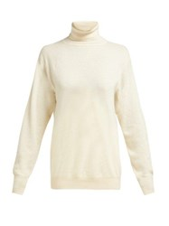The Row Janillen Roll Neck Cashmere Sweater Ivory