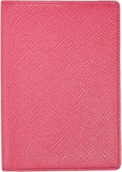 Smythson Panama Passport Cover Pink