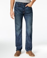 Tommy Hilfiger Men's Relaxed Fit Dark Wash Jeans Rinse