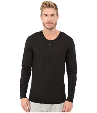 2Xist Tartan Tech Long Sleeve Henley Black Men's Clothing