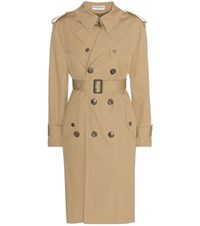 Balenciaga Cotton Trench Coat Beige