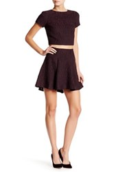 Alice Olivia Sibel Hi Lo Fit And Flare Skirt Purple