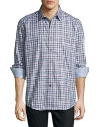 Robert Graham Verdant Oasis Long Sleeve Sport Shirt Gray