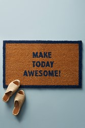 Anthropologie Make Today Awesome Doormat Navy