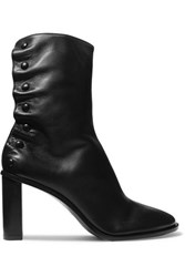 The Row Tea Time Leather Ankle Boots Black