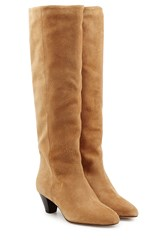Etoile Isabel Marant Suede Knee Boots Beige
