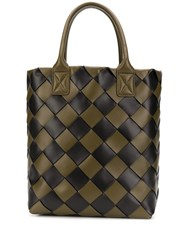Bottega Veneta Woven Tote Bag Green