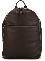Eleventy Top Handle Backpack Brown