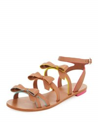 Sophia Webster Samara Flat Bow Detail Sandal Tan Multi