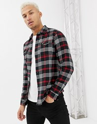 Voi Jeans Checked Shirt Grey
