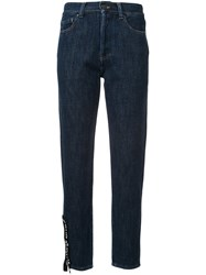 Palm Angels New Vintage Straight Leg Jeans Blue