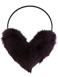 Yves Salomon Pompom Earmuffs Pink And Purple
