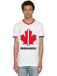 Dsquared Print Very Very Dan Fit Jersey T Shirt White