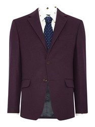 New And Lingwood Almond Notch Lapel Blazer Burgundy