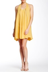 Autograph Addison Zip Detail Dress Yellow