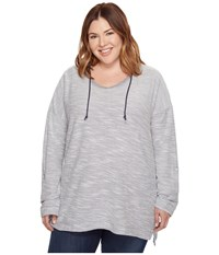 Columbia Plus Size Coastal Escape Hoodie Nocturnal Heather Women's Sweatshirt Gray