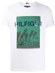 Tommy Hilfiger Printed T Shirt White
