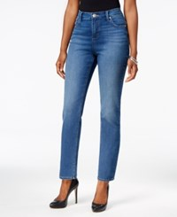 Lee Platinum Petite Gwen Classic Fit Cadet Wash Straight Leg Jeans Cadet Knit