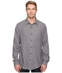 Marmot Hobson Flannel Long Sleeve Shirt Slate Grey Heather Men's Long Sleeve Button Up Black