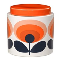 Orla Kiely 70S Oval Storage Jar 1L Orange