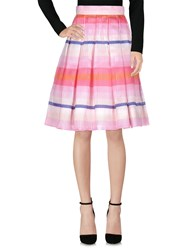 Daizy Shely Knee Length Skirts Pink