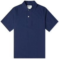 Mhl By Margaret Howell Mhl. Wide Placket Polo Shirt Blue