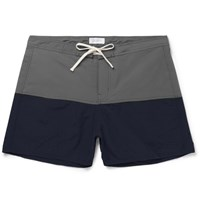 Saturdays Surf Nyc Ennis Short Length Colour Block Swim Shorts Gray