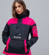Columbia Challenger Pullover In Black Pink 12 Black Cactus Pink