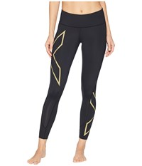 2Xu Mcs Run Compression Tights Black Gold Workout