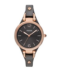 Fossil Ladies Georgia Black Leather Watch