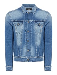 Replay Men's Classic Collar Denim Jacket Blue