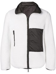 Sempach Panelled Fleece And Shell Jacket White