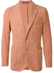 Eleventy Patch Pocket Blazer Yellow And Orange