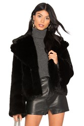 Unreal Fur Madam Butterfly Faux Jacket Black