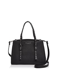 Marc Jacobs Mini T Leather Satchel Black Silver